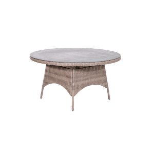 DoeHetZelf Outlet – Dronten-Garden Impressions Lumio tafel rond 150 cm wicker shadow grey