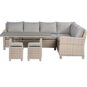 DoeHetZelf Outlet – Dronten-Garden Impressions Minesota lounge dining set passion willow sand (rechts)