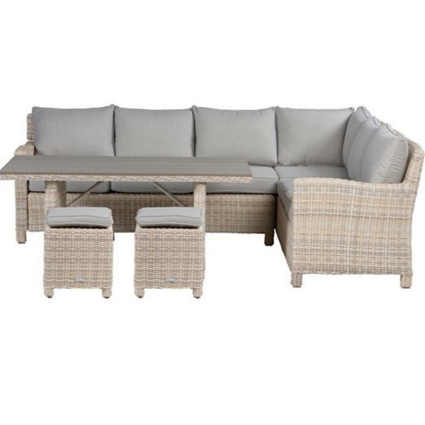 garden impressions minesota lounge dining set passion willow sand rechts doehetzelf outlet. Black Bedroom Furniture Sets. Home Design Ideas
