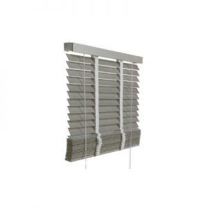 DoeHetZelf Outlet – Dronten-houten jalozieen-taupe grijs -kleur 940-50 mm