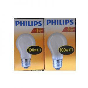DoeHetZelf Outlet – Dronten-Philips Dimbare Gloeilamp 100 Watt mat normaal
