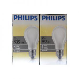 DoeHetZelf Outlet – Dronten-Philips Dimbare Gloeilamp 75 Watt mat normaal