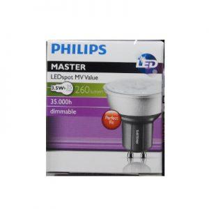 DoeHetZelf Outlet – Dronten-Philips Dimbare Led Lamp/Spot gu10 3,5w-35w Exta Warm Wit