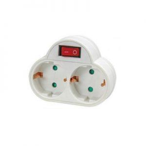 DoeHetZelf Outlet – Dronten-verdeelstekker-met-schakelaar-2-stopcontacten-randaarding-verdeelstekker-met-schakelaar-2-stopcontacten-randaarding