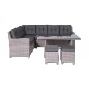 Blue Bird set 5=dlg lounge dining set grijs 03650GY