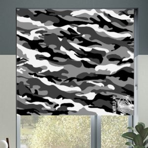 Sencys Rolgordijn VD camouflage grijs