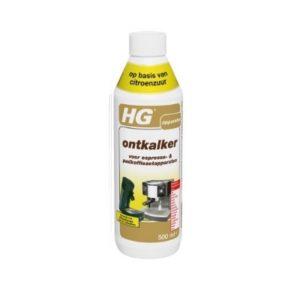 HG ontkalker voor espresso- & padkoffiezetapparaten is een ontkalker op basis van citroenzuur die kalkaanslag
